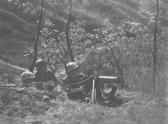 US machine gun position on Monticelli
