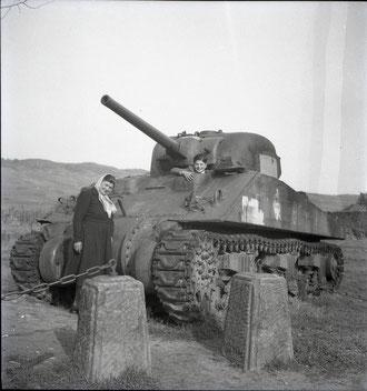 "The M4 Sherman ""Renard"" in 1950 in Kietzheim (Photo courtesy Laurent Kloepfer)"