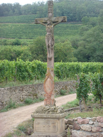 The men reached a point 150 yards from this large cross at the southern crest of the Hill