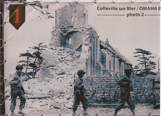 The Colleville-sur Mer church after it collapsed by Panzerfaust fire