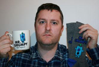 Lewis Bryan, Mr Grumpy Mug, Mr Grumpy socks.