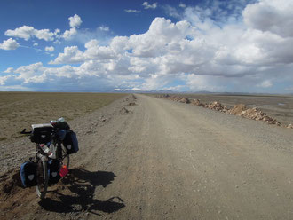 On the Tibetan plateau at 4'500m