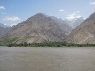 The Panji River and Afghanistan in the background