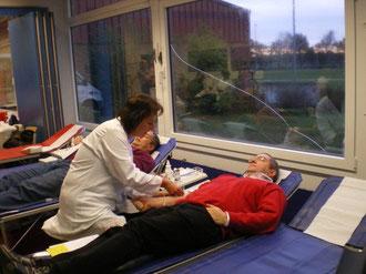 das eigentliche Blutspenden