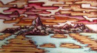 Reflet du soleil sur l'océan