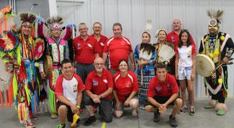 Mit Team Schweiz beim Eröffnungsfeier