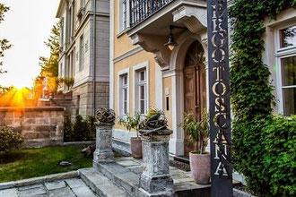 Hotel Albergo Toscana, Meißen, Abendstimmung, Lesung Brit Gloss