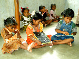 Irular children in pre-school.  Education to Self-confidence ist that, what they need!