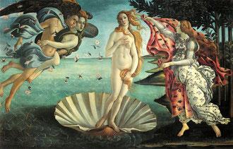 Die Geburt der Venus - Gemälde von Sandro Botticelli