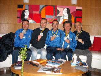 I 5 protagonisti di Torino sfoggiano la meritata medaglia