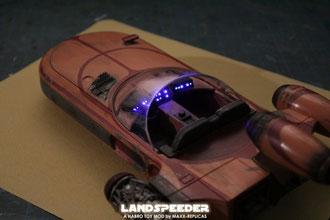 Hasbro Landspeeder Modell mit Glasfaserbeleuchtung