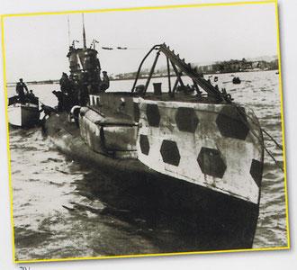 Sous marin mouilleur de mines type UCII