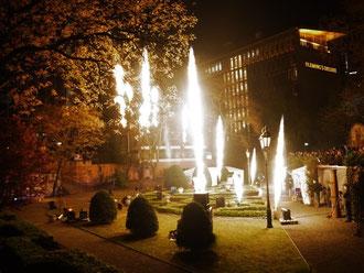 Feuerwerk bei der Luminale 2012 in Frankfurt