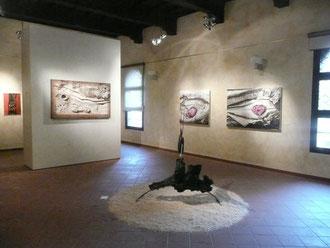 Quadri di Crini, installazione di Azzurrini