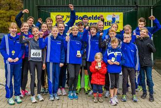 Gute Stimmung nach erfolgreicher Arbeit: Die LAZ-Athleten freuten sich über ihr herausragenden Laufergebnisse