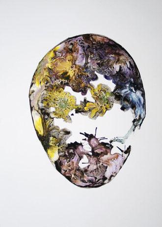 Niemand zeugt für den Zeugen(Wild Flower) 1(mixed media painting)