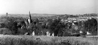 Sickingen-Flehingen vom Reichenberg besehen-1960erJahre