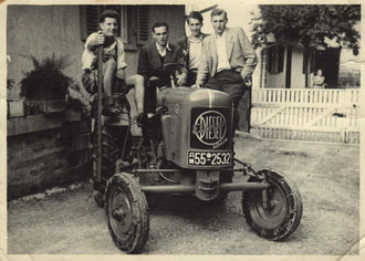 erster Eicher Schlepper in Großvillars 1952