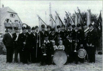 Feuerwehrkapelle Flehingen 1951 beim Kraichgau Sängerfest