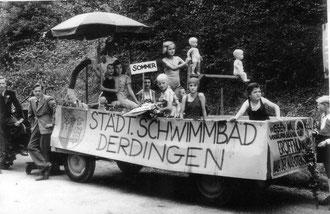 Werbung für Derdinger Schwimmbad vor ca. 60 Jahren