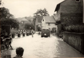 Hochwasser in Sickingen ca.1968