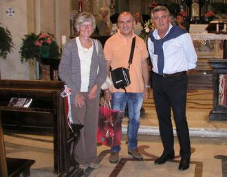 Unsere Freunde und Gastgeber in Villar Perosa