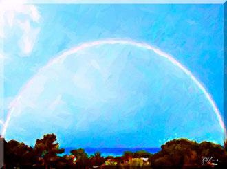 Calabria - Amantea, arcobaleno