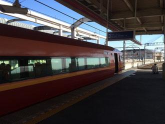 ☆新宿発7:30 栃木着8:46着。特急日光1号。