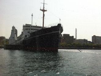 ★先月4月29日(日)横浜 シーバス。船首から見た氷川丸
