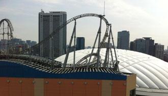 ★シビックセンター13階から見た東京ドーム