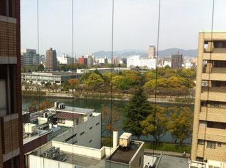 広島 平和公園前 パークサイドホテルの9階からの景色