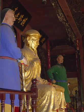 Statue Chen Wangtings im Ahnentempel