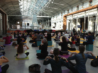 Festival de yoga, Paris, oct. 2012