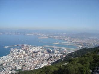 La Linea achorage seen from the Rock