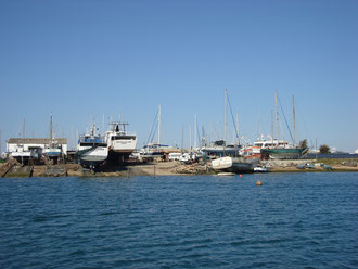 The shipyard of Dias & Sabino seen from the water