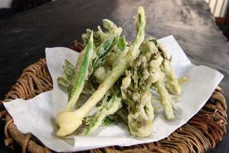 新鮮!山菜天ぷら