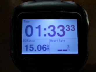 本日のRUN 15キロ