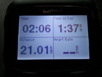 21キロ走り