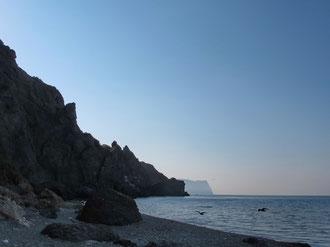 Вид с пляжа Яшмовый в сторону Айя