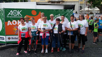 Die Mitarbeiterinnen der Diakonischen Behindertenhilfe Bergheimat aus Lübbecke hatten beim 2. AOK Firmenlauf Herford eine Menge Spaß.