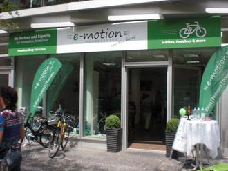 Shoperöffnung e-motion e-Bike Welt in München