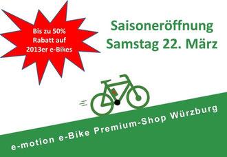 Saisoneröffnung e-motion e-Bike Shop Würzburg