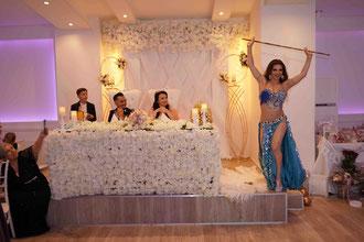 Feuershow auf einer Hochzeit