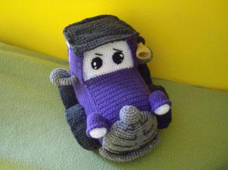 coche antiguo de crochet