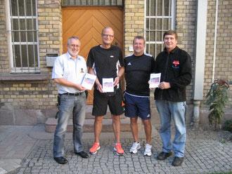 Dieter Münzebrock (von links), Andreas Rehr, Georg Caldenhoven und Manfred Wille