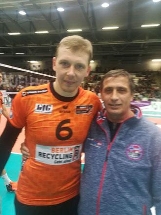 Sergei Jurjewitsch Grankin (links) und Valeri Seifried