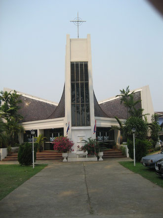 Die Dendamrongtham Church in Chiang Mai/ Nordthailand (Mitglied der Church of Christ in Thailand)