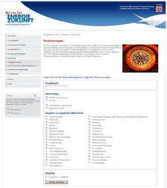 Förderkompass auf Energieland Hessen