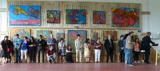 Remise des Prix. Au centre, Ody Saban invitée d'honneur