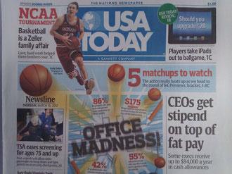 USA Today紙 2012年3月15日付